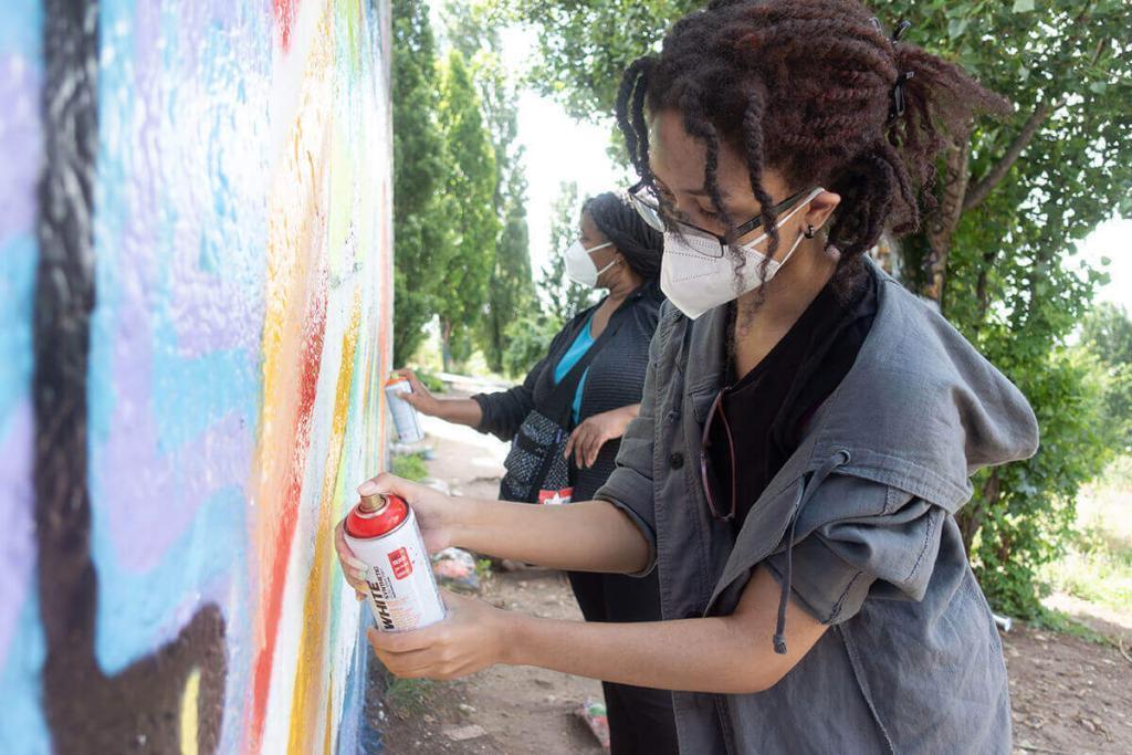 Alternative graffiti workshop in berlin